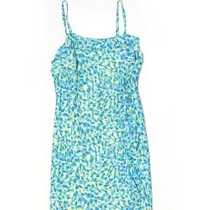 Donna Ricco 4 lime green and blue dress